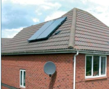 Worcester Solar FKC-1S (2 Solar Collector Panels) On Roof Installation Package